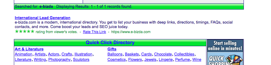 E-Bizda International Business Directory No-brainer decision for business listing: e-bizda vs other business directories